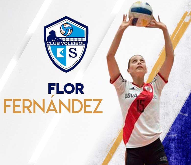 FLOR FERNÁNDEZ, del River Plate Argentino cierra la Plantilla del Club Voleibol KIELE 2018/2019