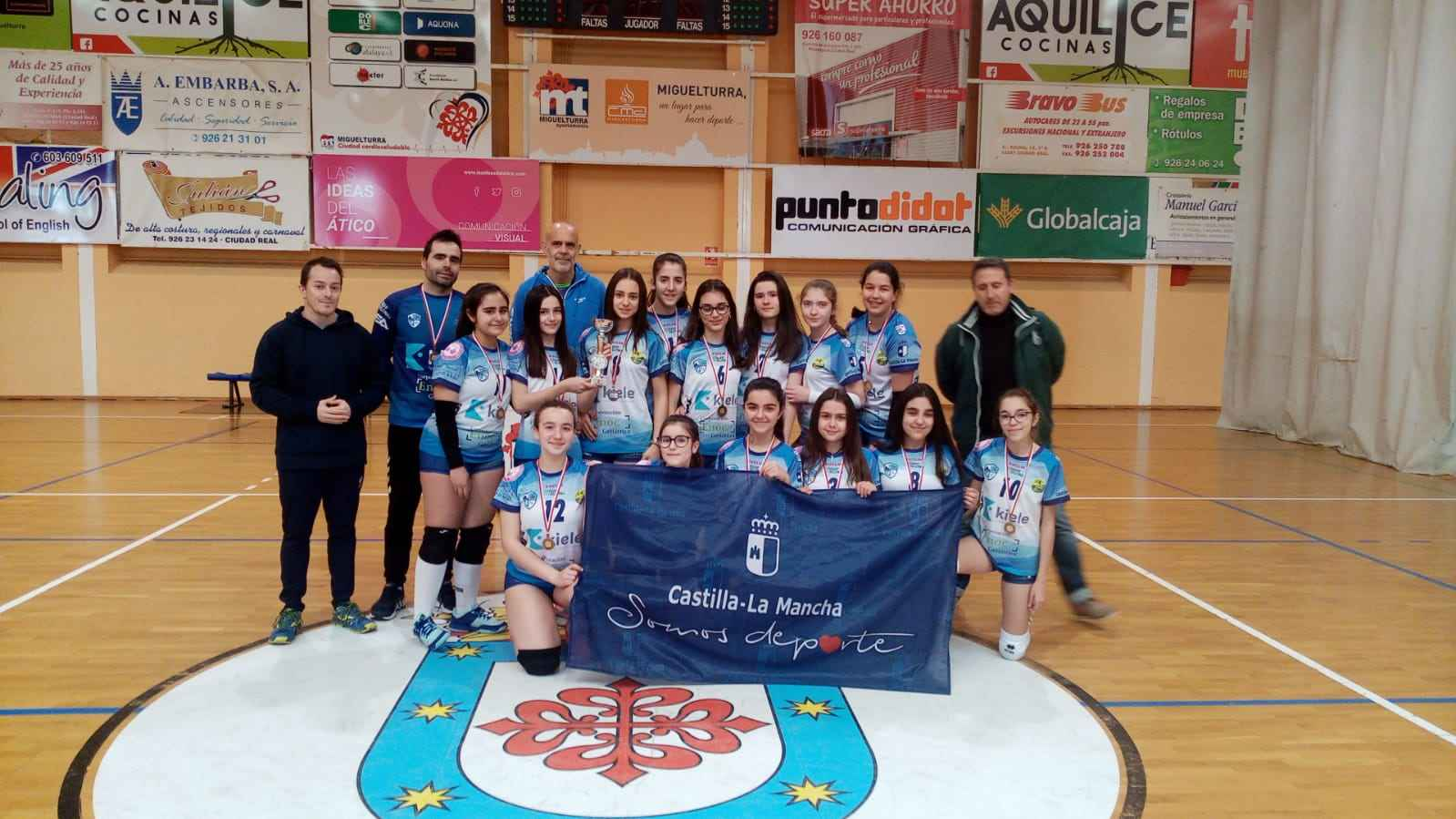 El INFANTIL A del CV Kiele TERCERO en el Campeonato Provincial