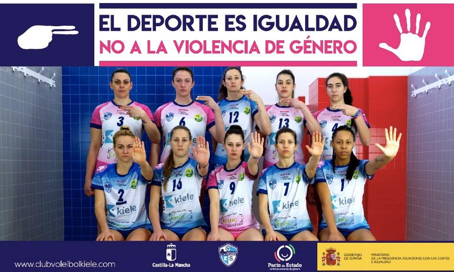 El Club Voleibol KIELE inicia la Campaña: «EL DEPORTE ES IGUALDAD. NO A LA VIOLENCIA DE GÉNERO»